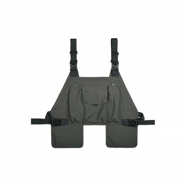 oqLiq 2021SS - natural blessing - tai chi porcket chest rig - olive