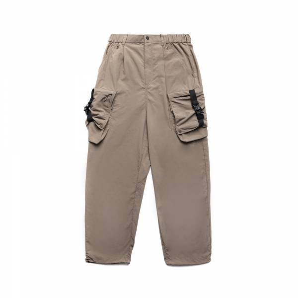 oqLiq 2021SS - natural blessing - side width pants - khaki