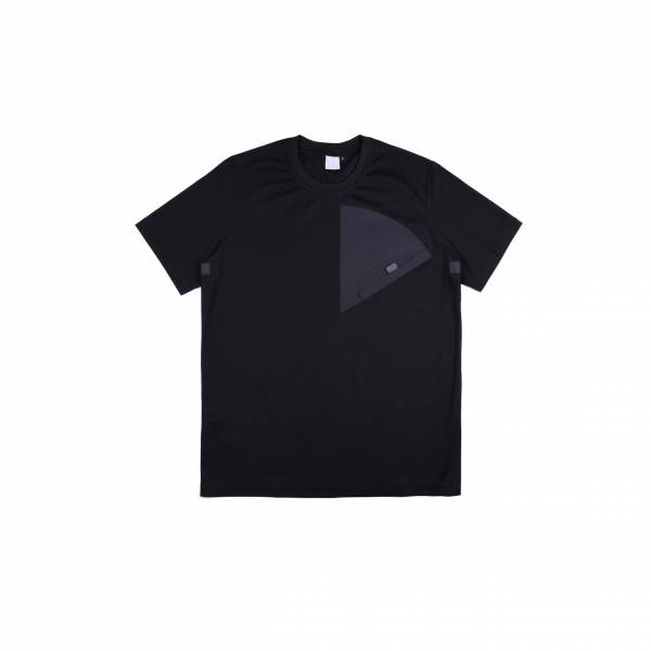 oqLiq 2021SS - natural blessing - sector tee - black