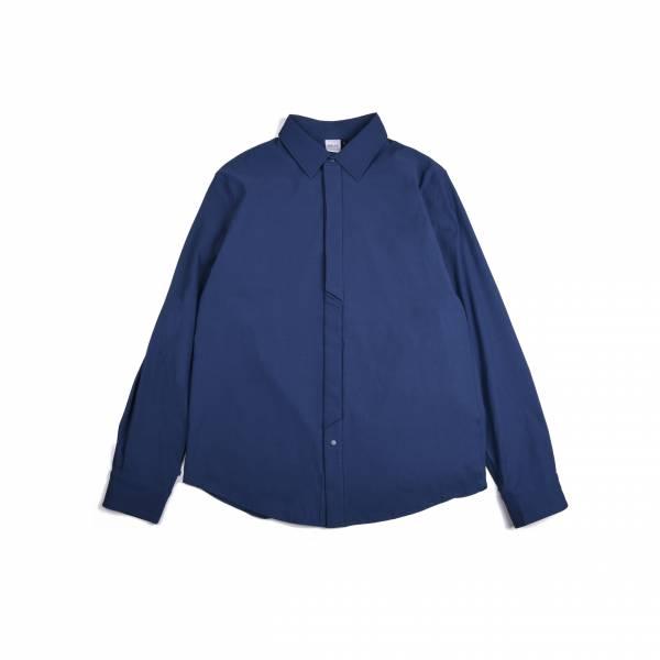 oqLiq 2020AW - omni direction - shift shirt - blue