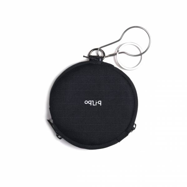 oqLiq 2020SS - omni direction - circular sector coin purse - black