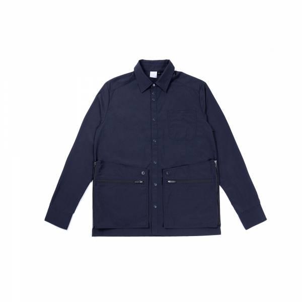 oqLiq 2021SS - natural blessing - adhere door shirt - navy