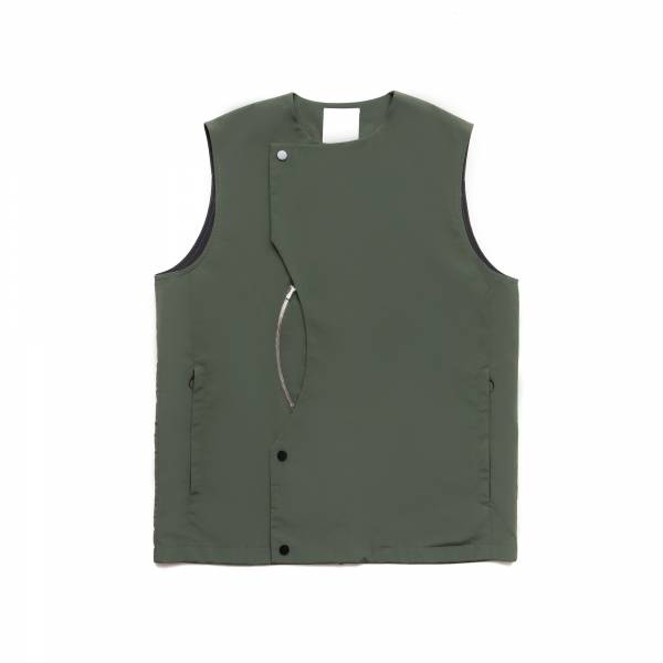 oqLiq 2021SS - natural blessing - intersection vest - green