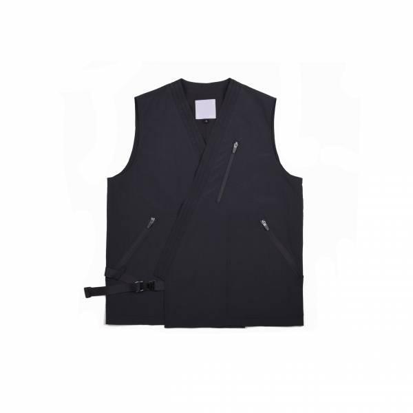 oqLiq 2021SS - natural blessing - bunum vest+ - black