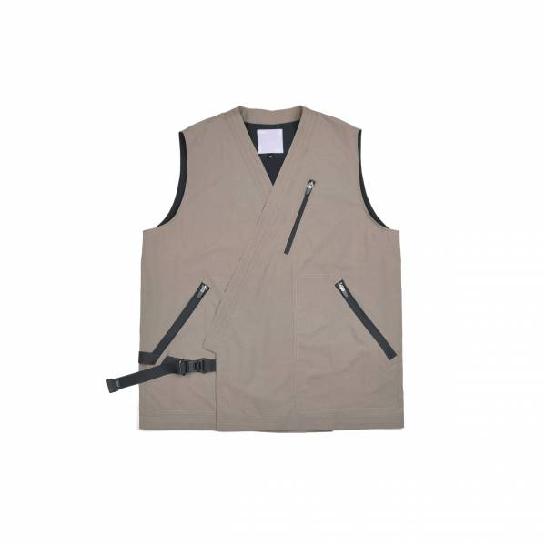 oqLiq 2021SS - natural blessing - bunum vest+ - khaki
