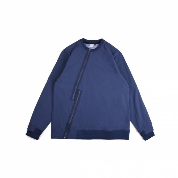 oqLiq 2020AW - omni direction - thunder sweater - blue