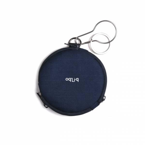 oqLiq 2020SS - omni direction - circular sector coin purse - navy