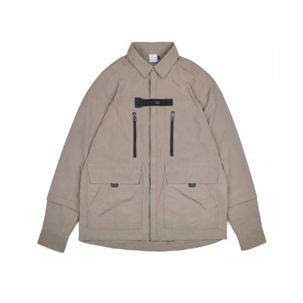 oqLiq 2021SS - natural blessing - eave shirt - khaki