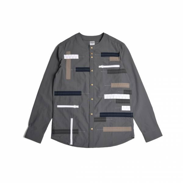 oqLiq 2020SS - omni direction - timeline shirt - gray