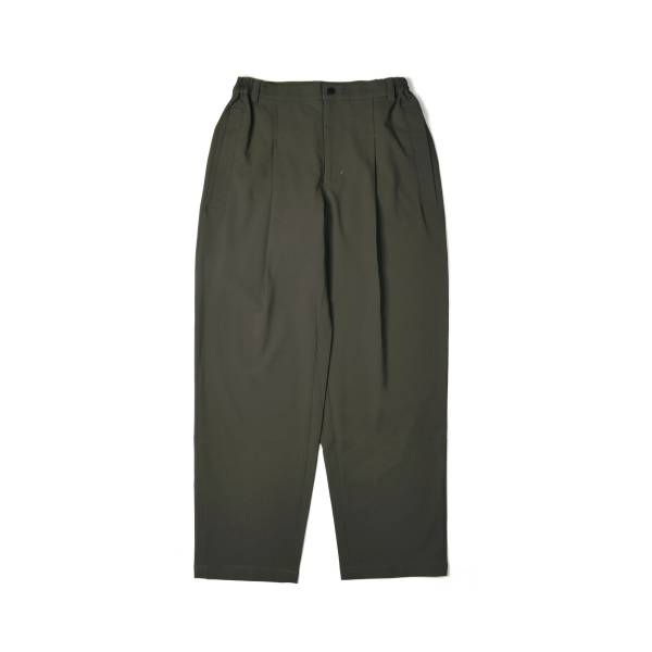oqLiq x plain-me outline stitch pants - olive
