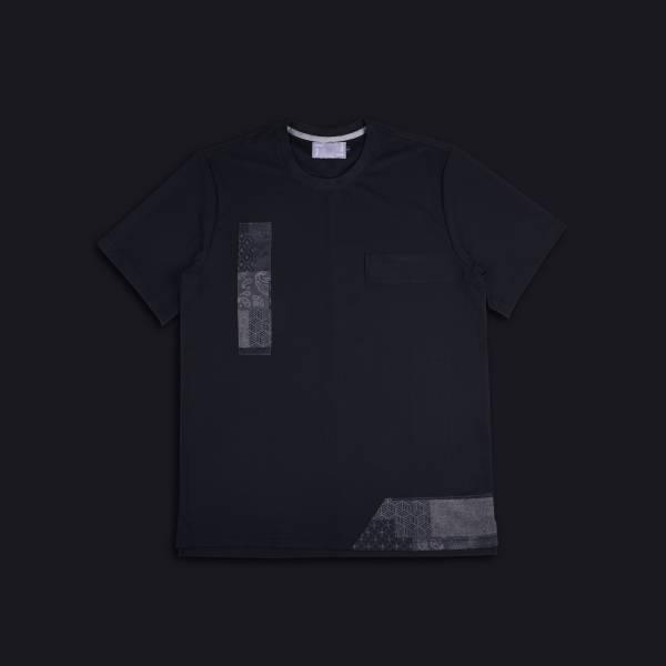 oqLiq - Project 08 - BORO mesh tee - black