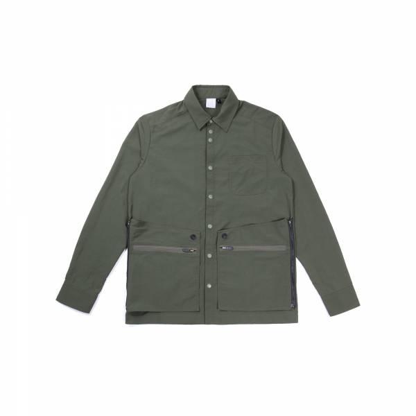 oqLiq 2021SS - natural blessing - adhere door shirt - green