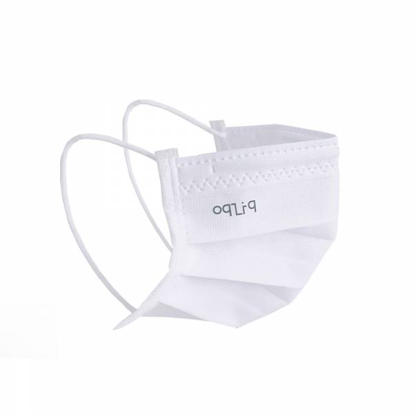 oqLiq - Project 10 - n-PTFE  PROTECTIVE  HIGH-BREATHABLE  MASK - white X5
