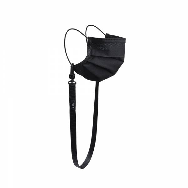 oqLiq - Project 10 - n-PTFE  PROTECTIVE  HIGH-BREATHABLE  MASK - black X1+15mm mask chain