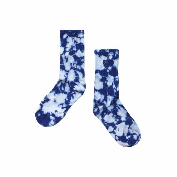 oqLiq 2018 SS - AdHeRe - indigo sock - floral