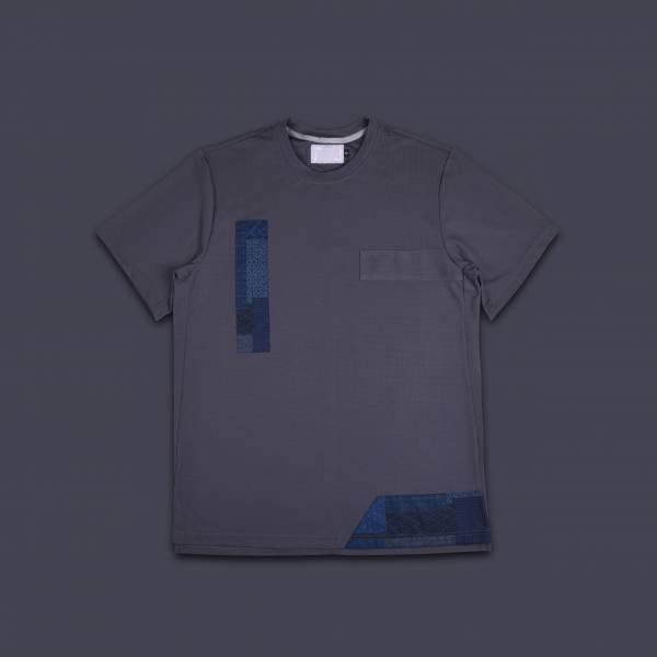 oqLiq - Project 08 - BORO mesh tee - gray
