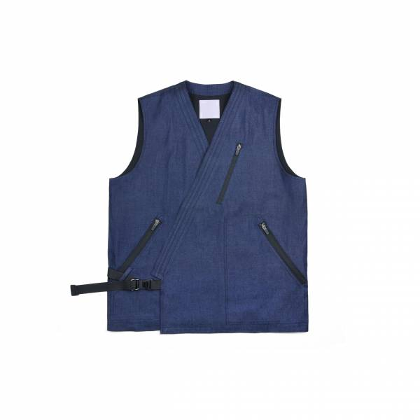 oqLiq 2021SS - natural blessing - bunum vest+ - denim
