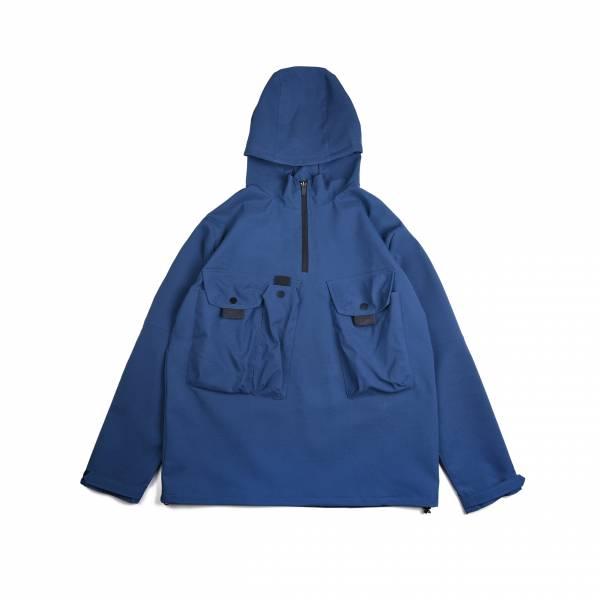 oqLiq 2020AW - omni direction - tai chi pocket anorak shirt - classic blue