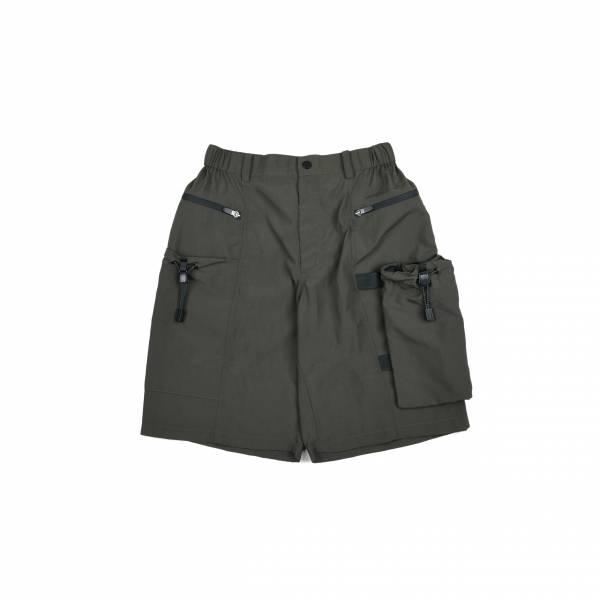 oqLiq 2021SS - natural blessing - drawstring shorts - olive