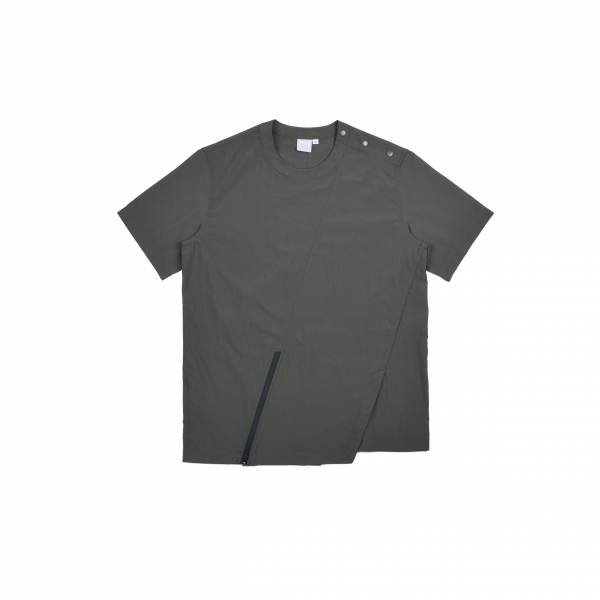 oqLiq 2021SS - natural blessing - fan woven tee - olive