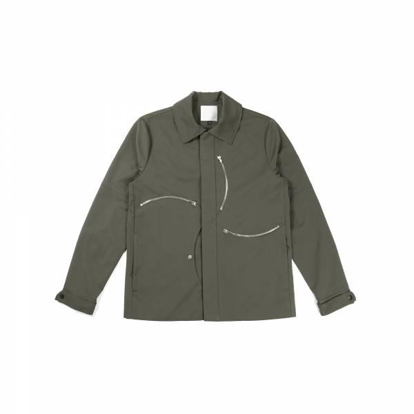 oqLiq 2021SS - natural blessing - windmill zipper jacket - olive