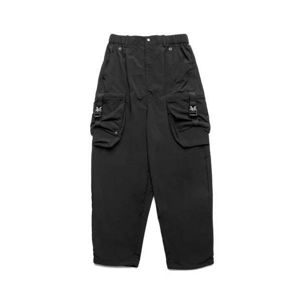 oqLiq 2021SS - natural blessing - side width pants - black