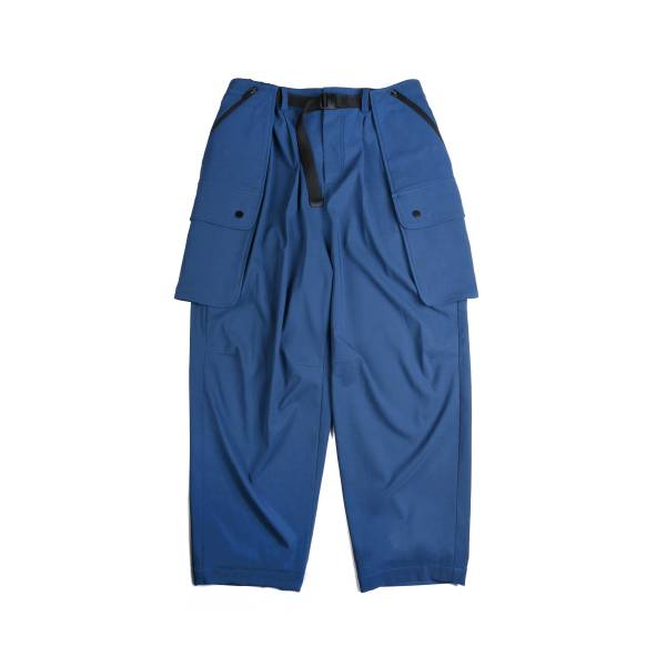 oqLiq x plain-me - detachable pocket belt pants - classic blue