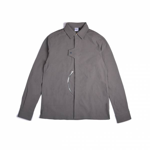 oqLiq 2020AW - omni direction - uneven shirt - olive khaki
