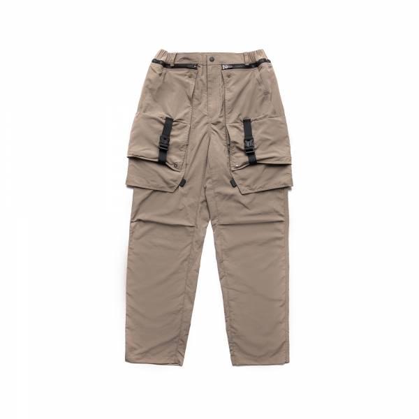 oqLiq 2021SS - natural blessing - side two way pants - khaki