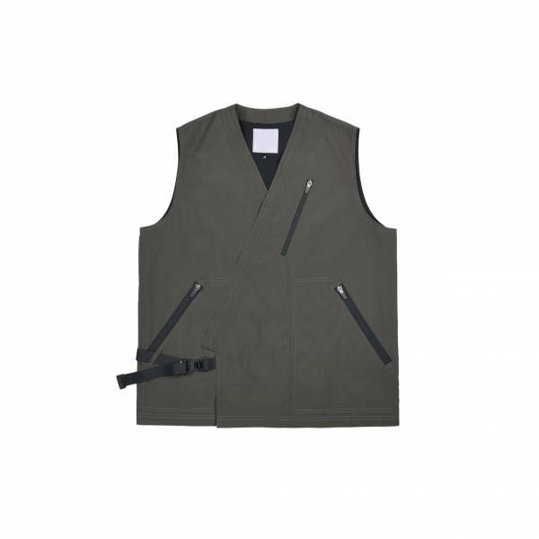 oqLiq 2021SS - natural blessing - bunum vest+ - olive