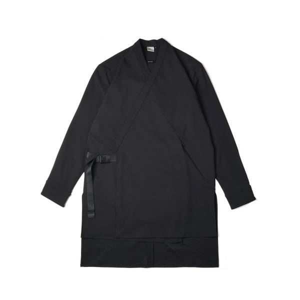 oqLiq x plain-me samue long shirt - black
