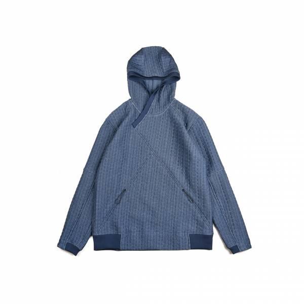 oqLiq 2020AW - omni direction - orient cross hoodie - blue
