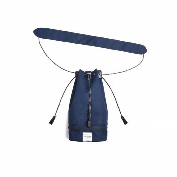 oqLiq 2020SS - omni direction - bucket bag - small - navy
