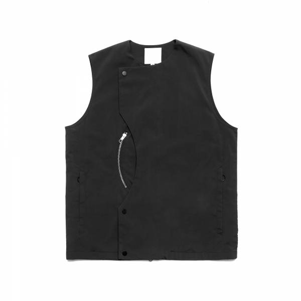 oqLiq 2021SS - natural blessing - intersection vest - black