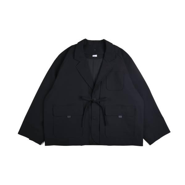 oqLiq x plain-me - noragi two way w suit - black