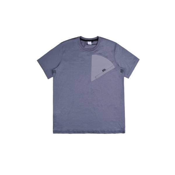 oqLiq 2021SS - natural blessing - sector tee - gray