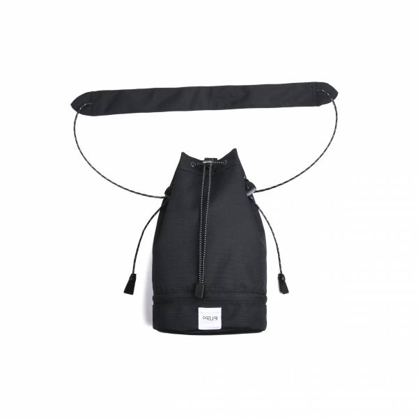 oqLiq 2020SS - omni direction - bucket bag - large - black