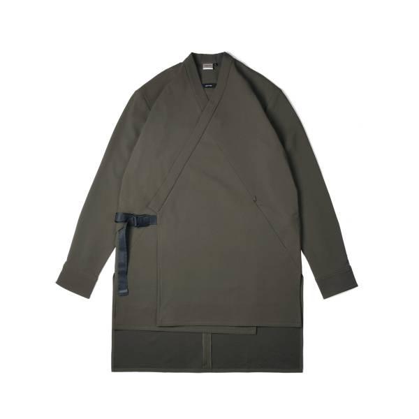 oqLiq x plain-me samue long shirt - olive