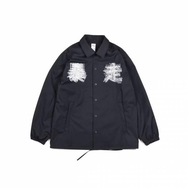 EVANGELION X oqLiq - eva coach jacket - black