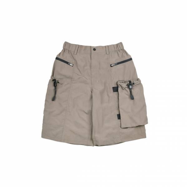 oqLiq 2021SS - natural blessing - drawstring shorts - khaki