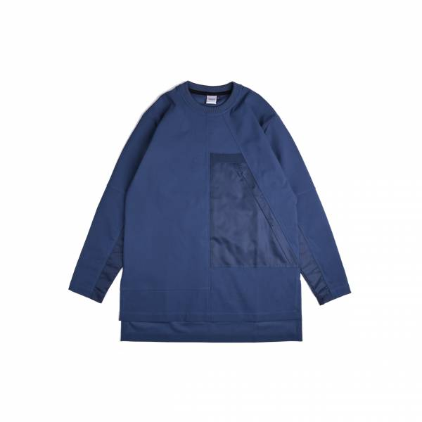 oqLiq 2020AW - omni direction - inside out sweater - classic blue