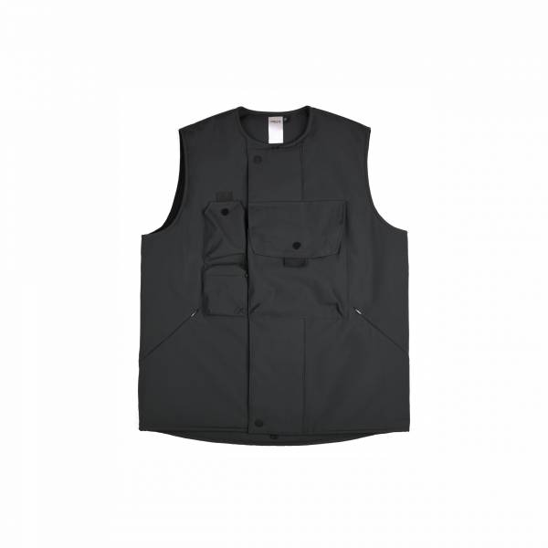 oqLiq 2020AW - omni direction - tai chi pocket vest - black