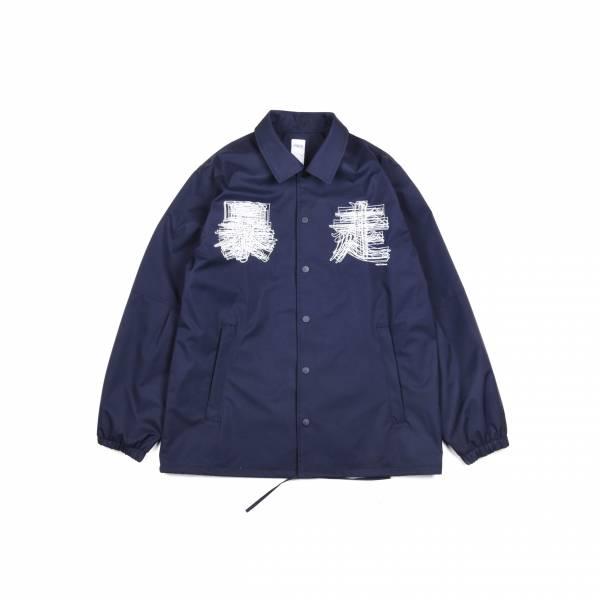 EVANGELION X oqLiq - eva coach jacket - navy