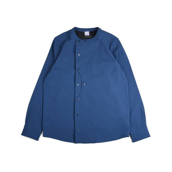 oqLiq x plain-me - hill side shirt - classic blue