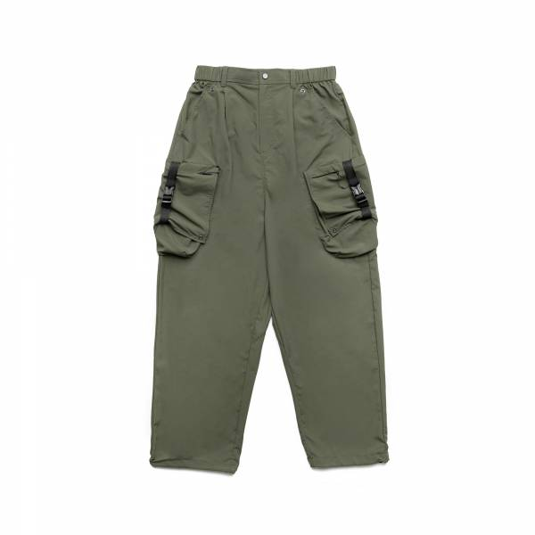 oqLiq 2021SS - natural blessing - side width pants - breen