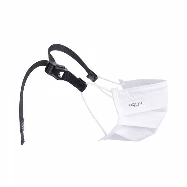 oqLiq - Project 10 - n-PTFE  PROTECTIVE  HIGH-BREATHABLE  MASK - white X1+15mm decompression belt
