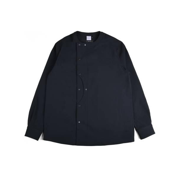 oqLiq x plain-me - hill side shirt - black