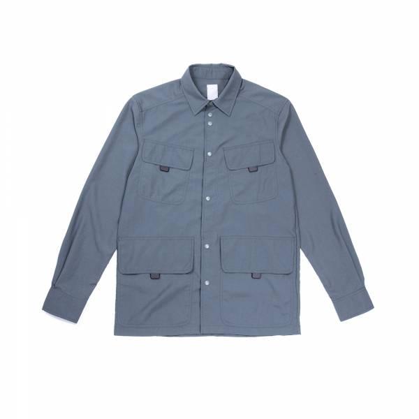 oqLiq 2021SS - natural blessing - hunting shirt - mallard green