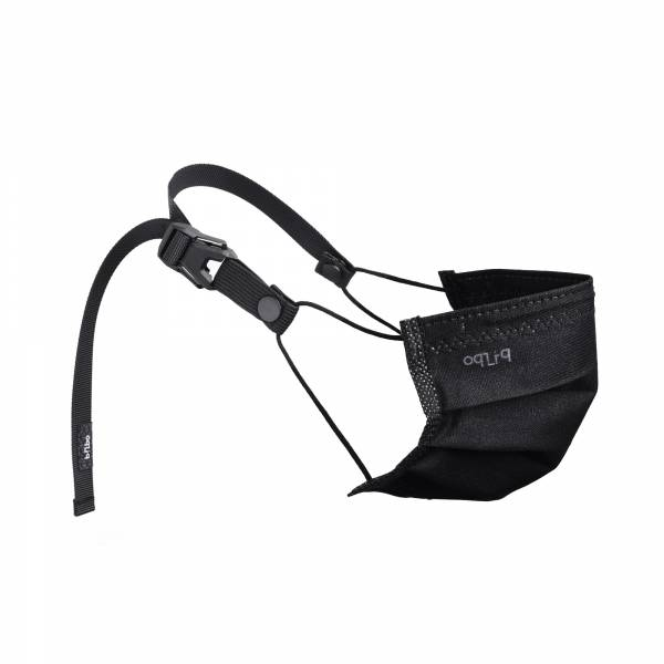 oqLiq - Project 10 - n-PTFE  PROTECTIVE  HIGH-BREATHABLE  MASK - black X1+15mm decompression belt