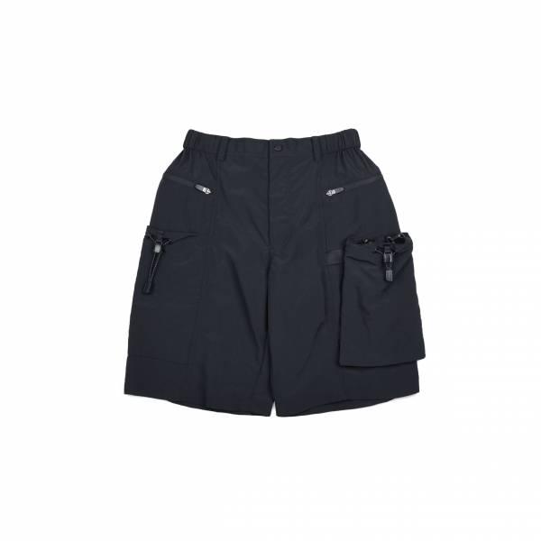 oqLiq 2021SS - natural blessing - drawstring shorts - black